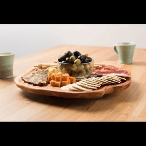Driini Handmade Root Wood Lazy Susan Turntable